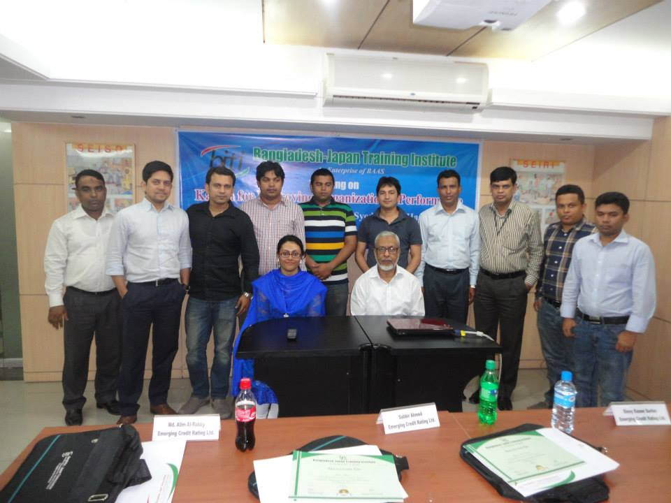 Training Session conducted in Bangladesh Japan Training Institute attended by Top Officials of Emerging Credit Rating Limited (ECRL)