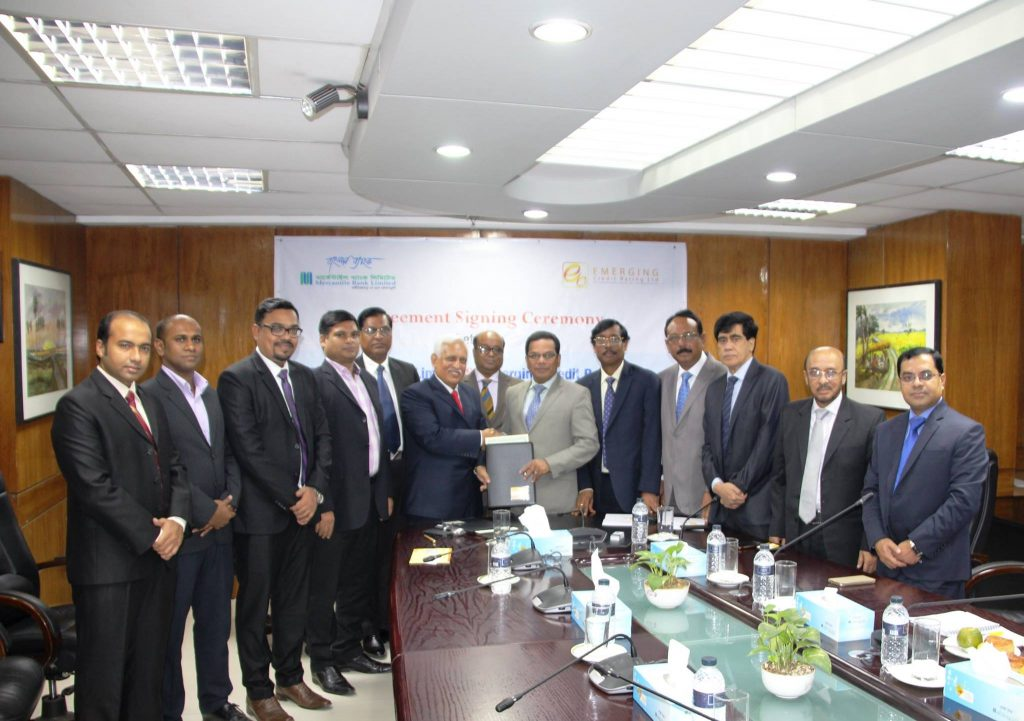 Emerging Credit Rating Limited (ECRL) signs Agreement with Mercantile Bank Limited to perform Credit Rating Service.